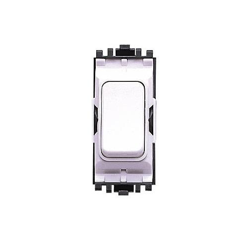 MK Grid Plus Switch 10A SP 2 Way Push Switch White