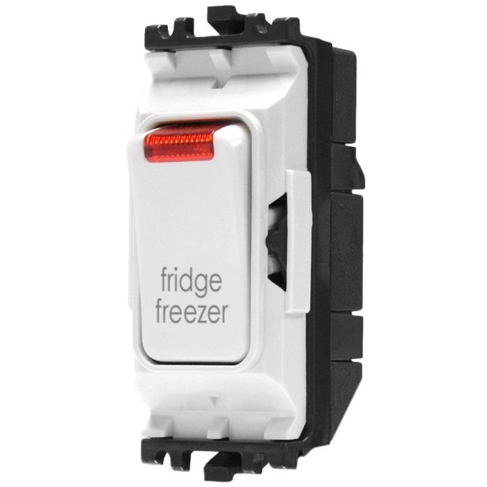 MK Grid Plus Switch 20A DP Neon Printed fridge freezer