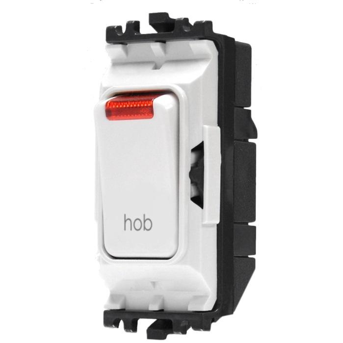 MK Grid Plus Switch 20A DP Neon Printed hob