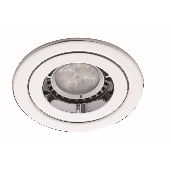 Ansell iCage Mini Fixed LED Downlight Chrome Fire Rated