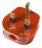 Click Mode Red 13A Fused Non-standard plug PA380