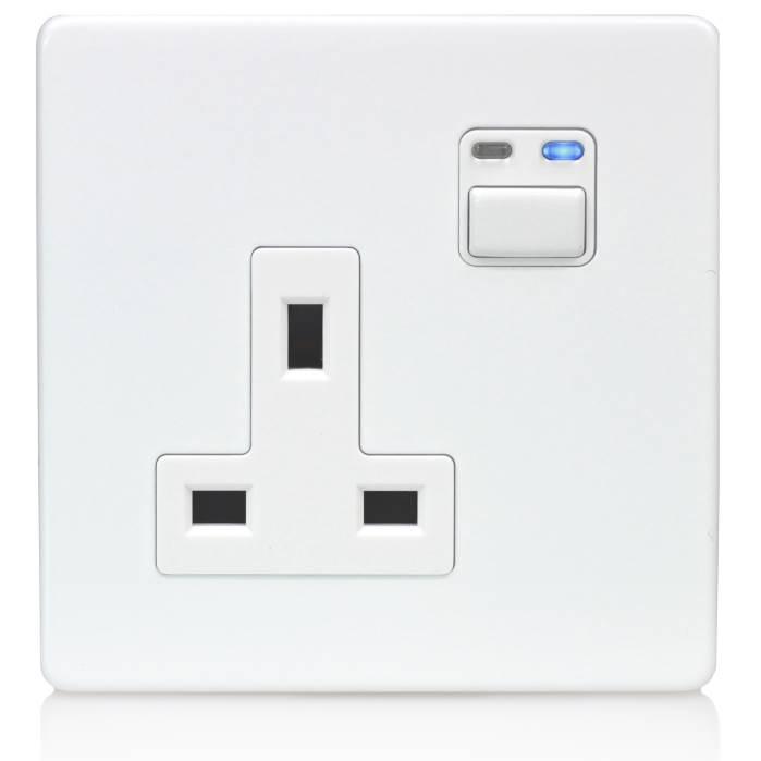 LightwaveRF 1G 13A Remote Control Socket White