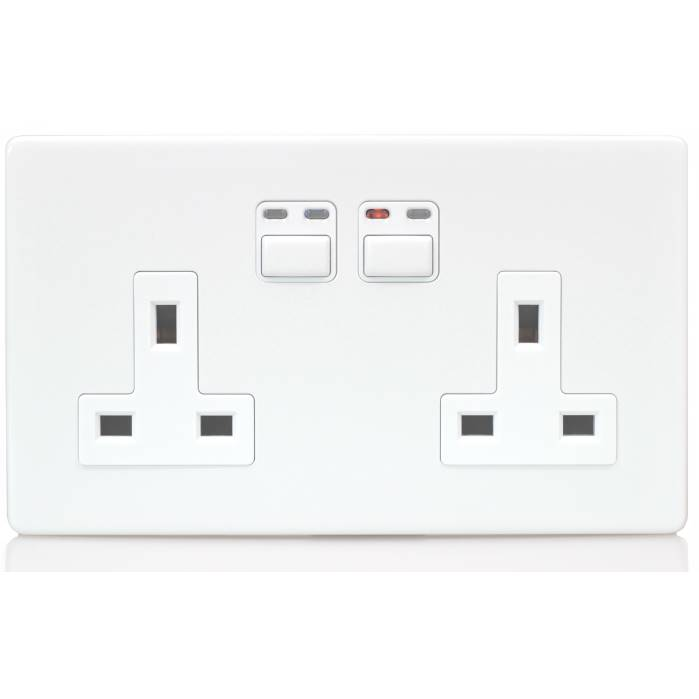 LightwaveRF 2G 13A Remote Control Socket White