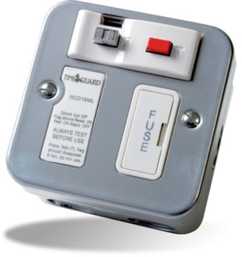 Timeguard  RCD16ML RCD Metal Fused Connection Unit