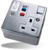 Timeguard  TFA03M RCD Single Metal Socket