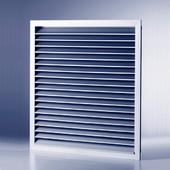 Non vision door set grille 350mm