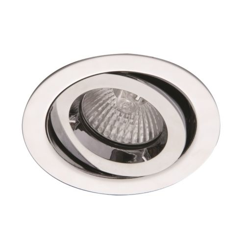 Ansell iCage Mini Tilt LED Downlight Chrome Fire Rated