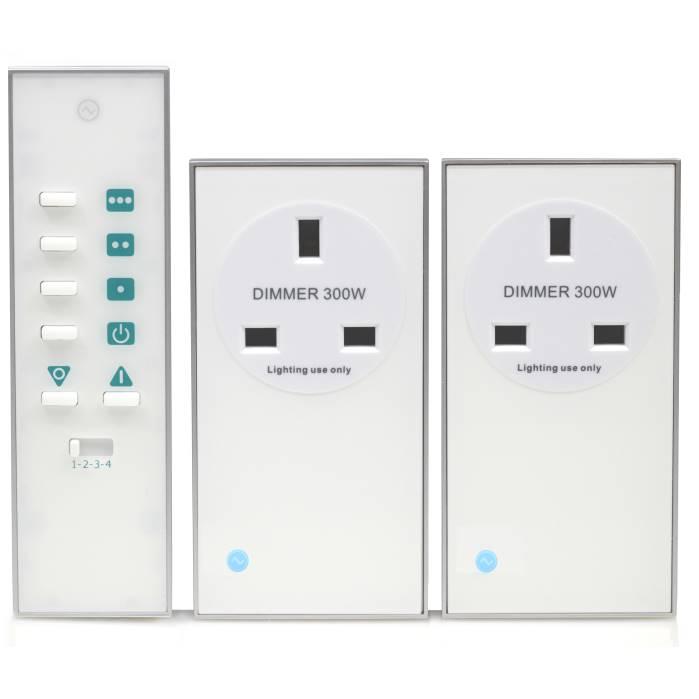 LightwaveRF Remote Dimmable Socket Kit White