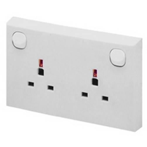 Selectric LG9098CON 13A 1 to 2 Gang Converter Socket Outlet White