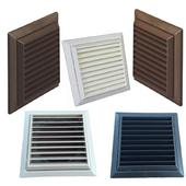 Louvred Grille with Flyscreen - 100mm Round