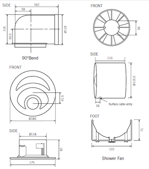 Wall Kitchen Exhaust Fan likewise  additionally Wiring Diagram Gfci Breaker also Wiring Diagrams For Ceiling Fans With Lights moreover Gm Inline Engines. on wiring diagram for bathroom extractor fan
