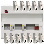 Wylex Amendment 3 15 Way Dual RCD Consumer Unit with 12 MCB's