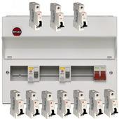 Wylex Amendment 3 10W Dual RCD Consumer Unit with 10 MCBs