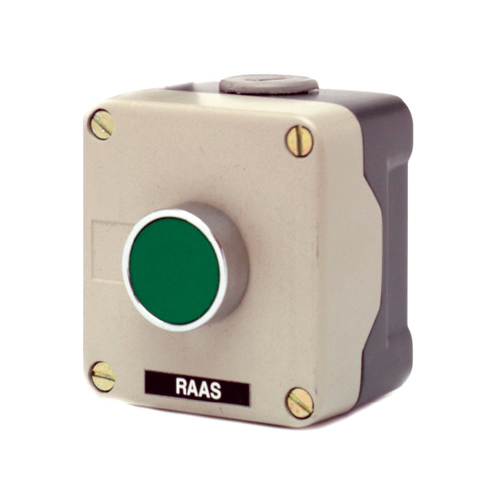 1 Pos Metal Control Station IP65 Green + 1N/O