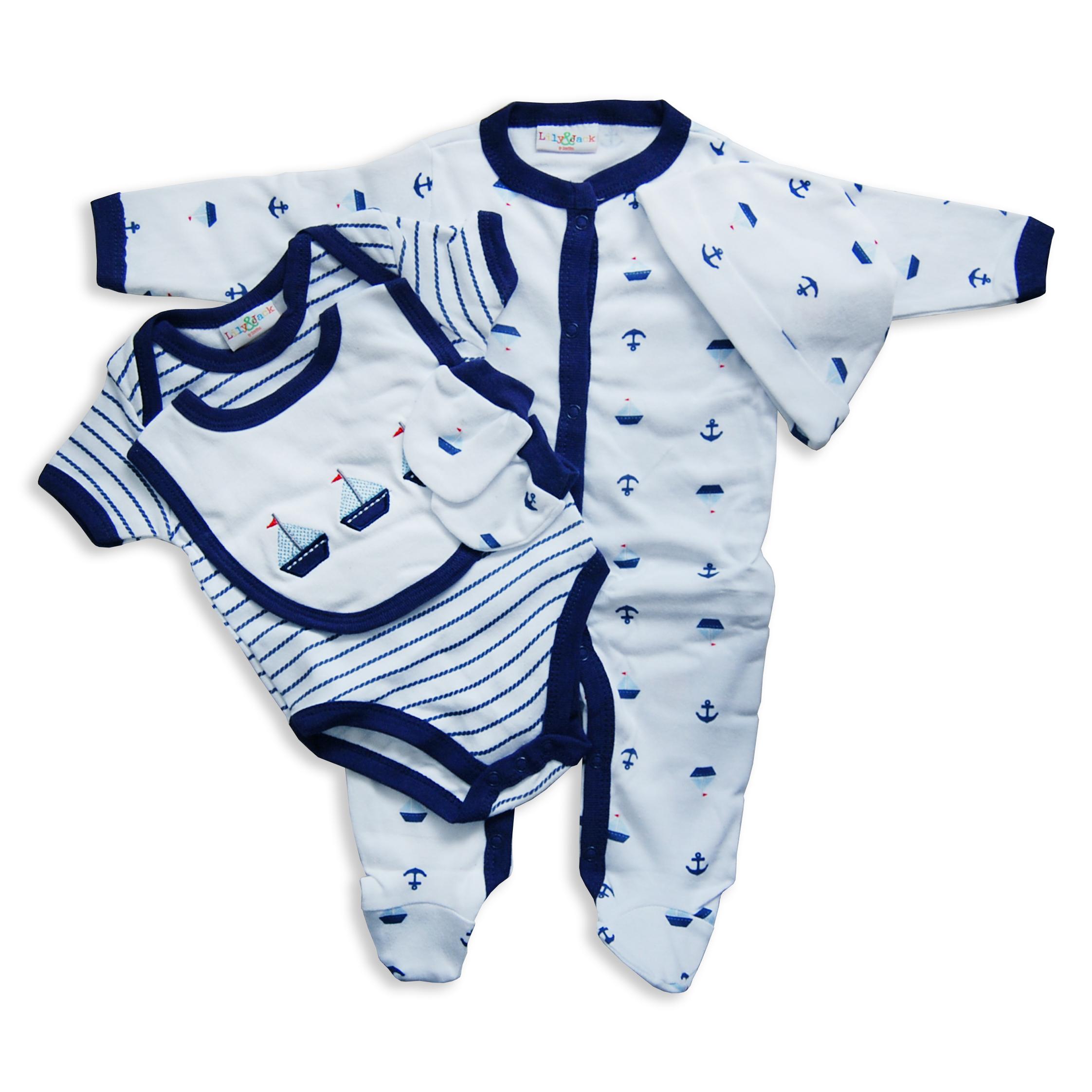 Luxury Newborn Baby Layette 5 Piece Designer Gift Set Box ...