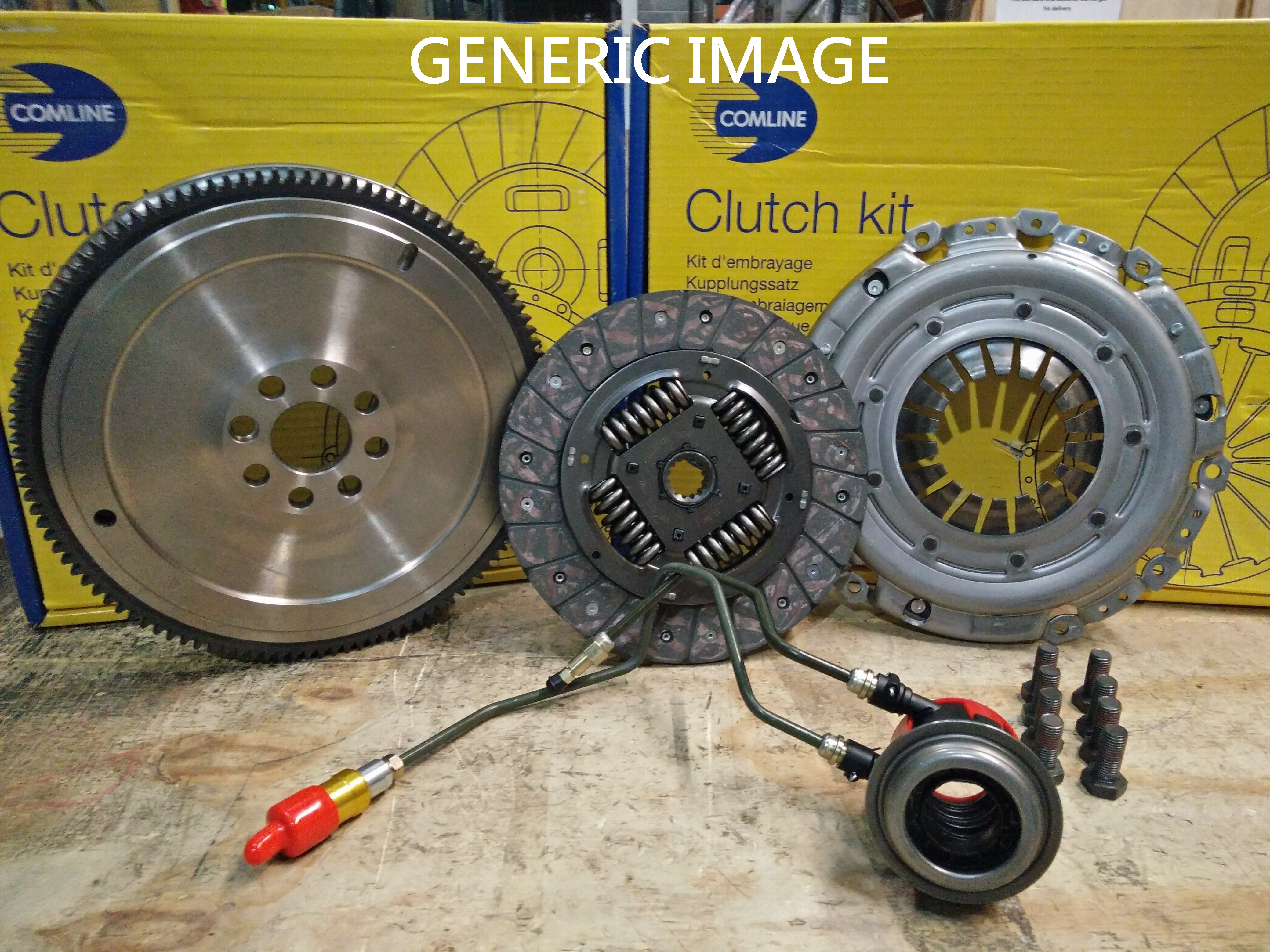 FOR VAUXHALL COMBO 1.3 CDTI SOLID FLYWHEEL CLUTCH KIT W// CSC SLAVE CYLINDER