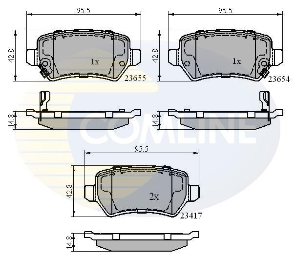 Vauxhall Zafira MK1//A 2.0 DTI 16V Genuine Borg /& Beck Front Brake Pads Set