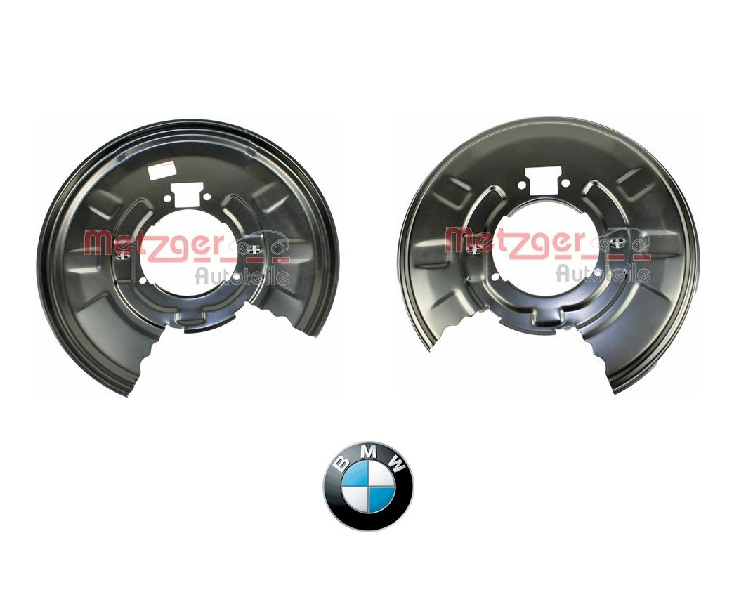 BMW E46 330i 330d REAR DISC BRAKE BACK PLATE SHIELD PAIR 34211166108 34211166107