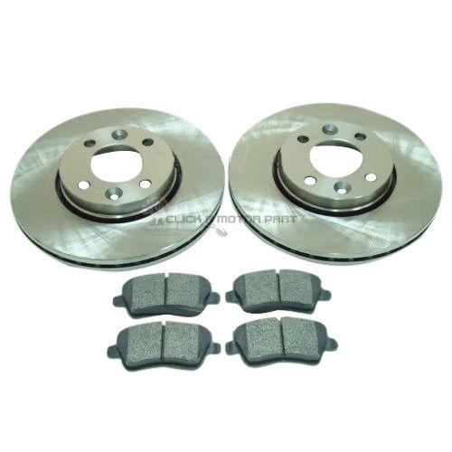 Brake Discs 260mm Vented Nissan Note 1.4 1.5 dCi 1.6 Front Delphi Brake Pads