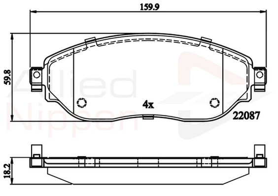 Front Delphi Brake Pads For Nissan Primastar Vauxhall Vivaro Renault Trafic