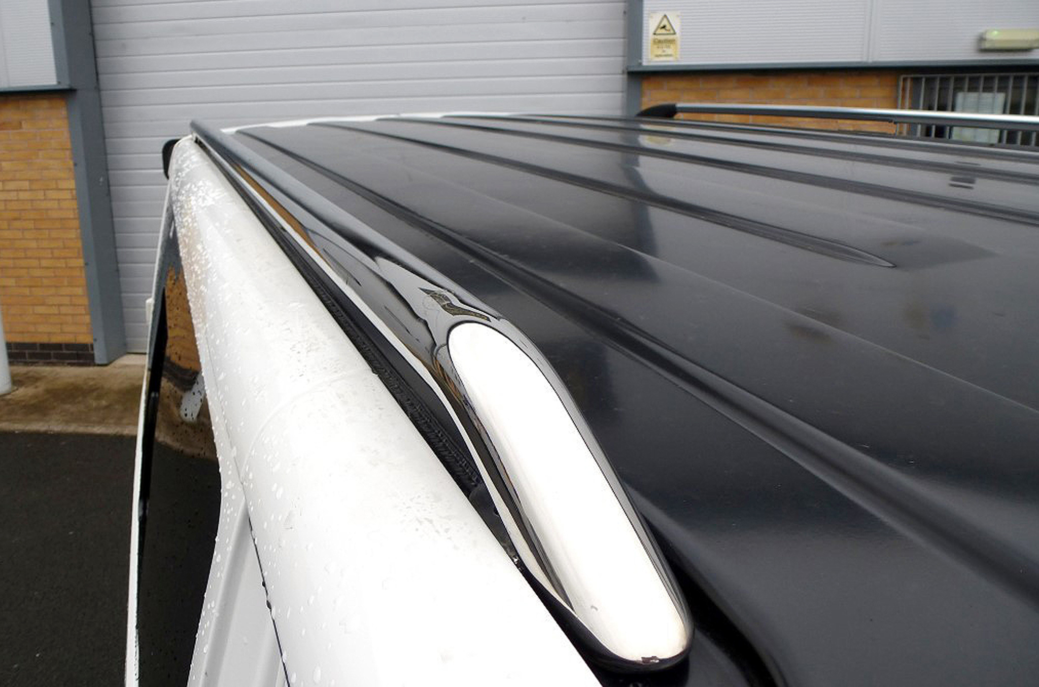 VW T5 LWB Transporter Roof Rails OE Genuine Style Stainless Steel Roof Bars