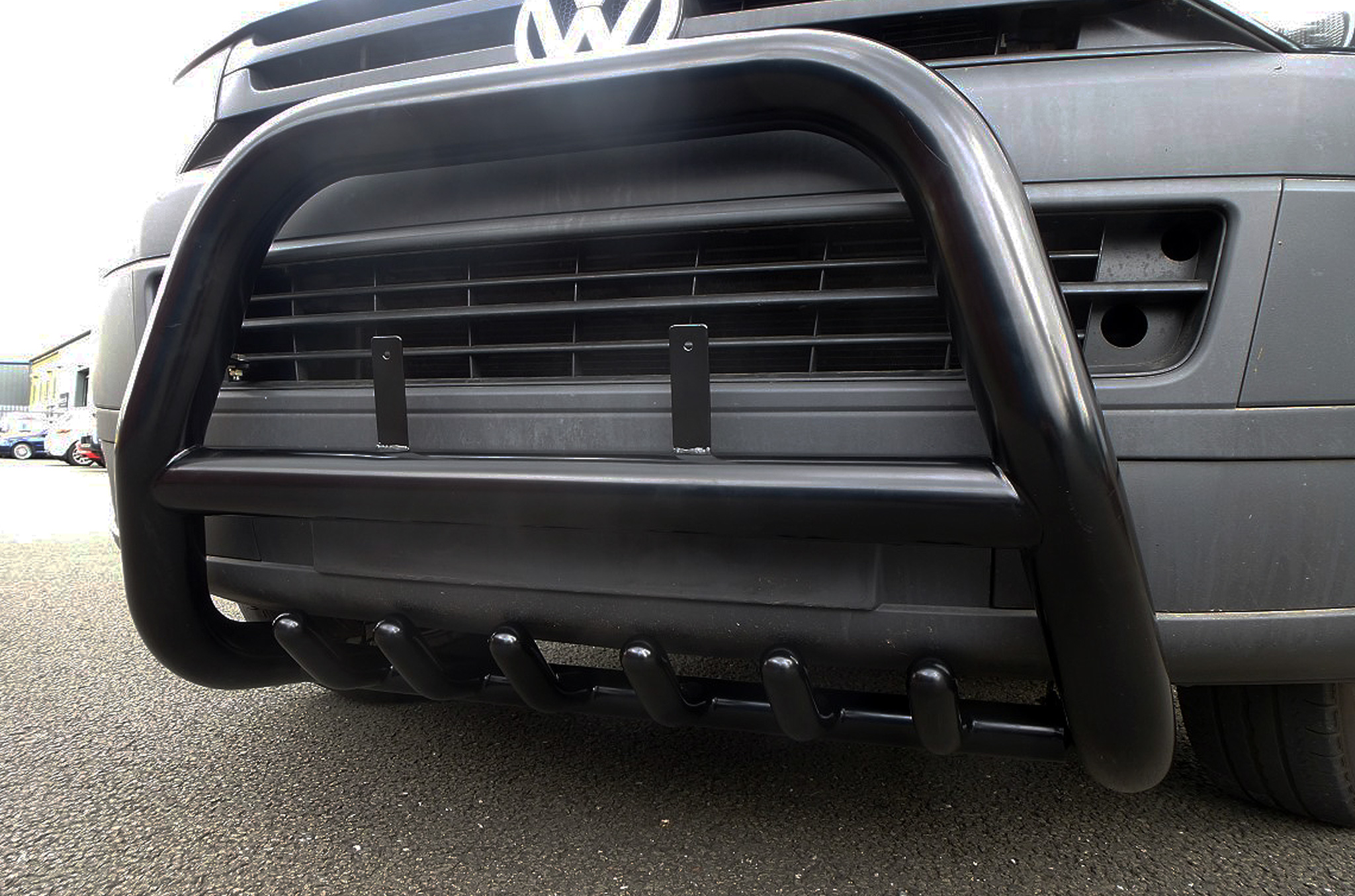 Vw T5 Black Swb Body Exterior Styling Spare Eu A Bar Bull Bar With Axle Guards Ebay