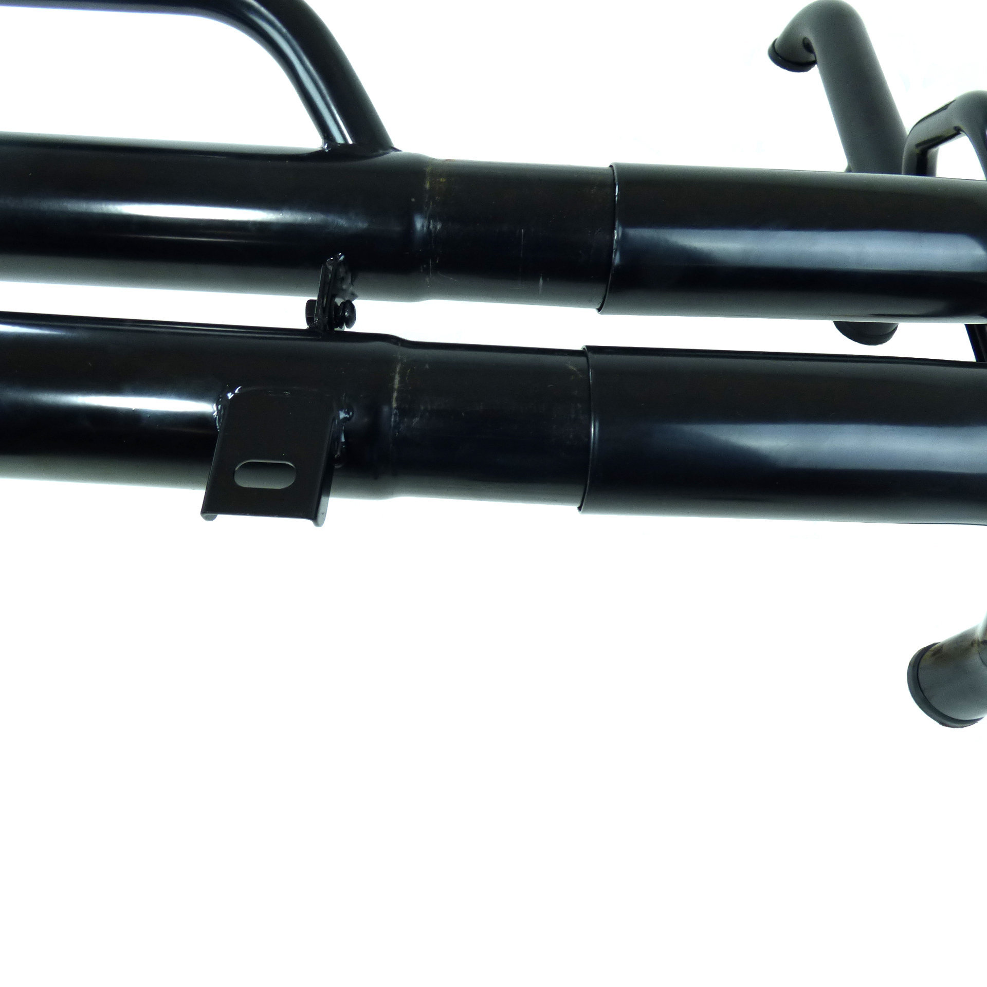 Universal Pickup Roll Bar With Grab Handle Black Powder