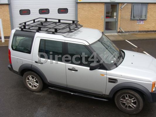 Land Rover Discovery 3 u0026 4 Rugged Roof Rack Luggage Basket Roof Bars Ski Box & Land Rover Discovery 3 u0026 4 Rugged Roof Rack Luggage Basket Roof ...