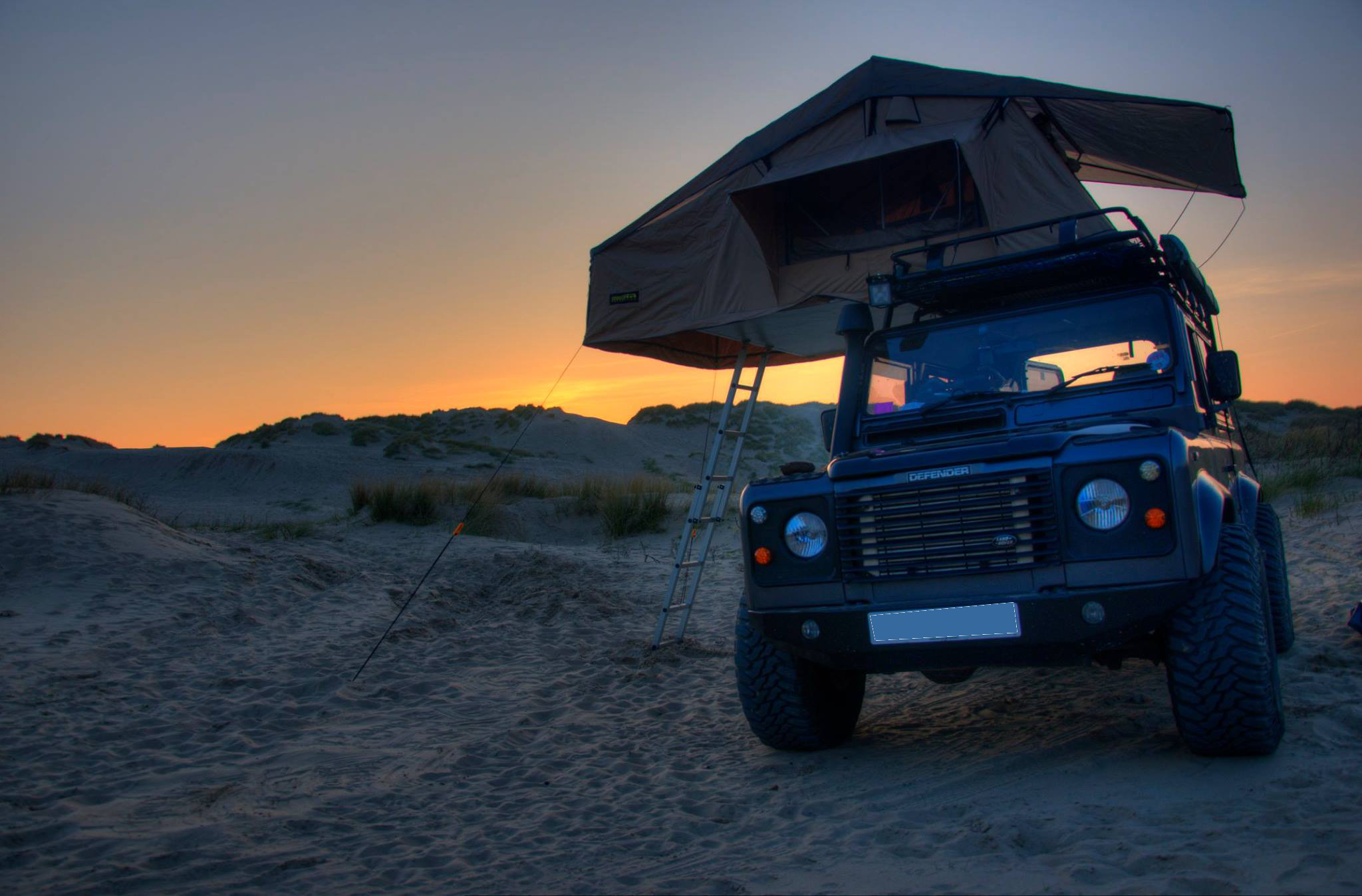 Land Rover Defender 3 Man Roof Tent + Full Roof Rack Outdoor C&ing C&er : roof tent land rover - memphite.com