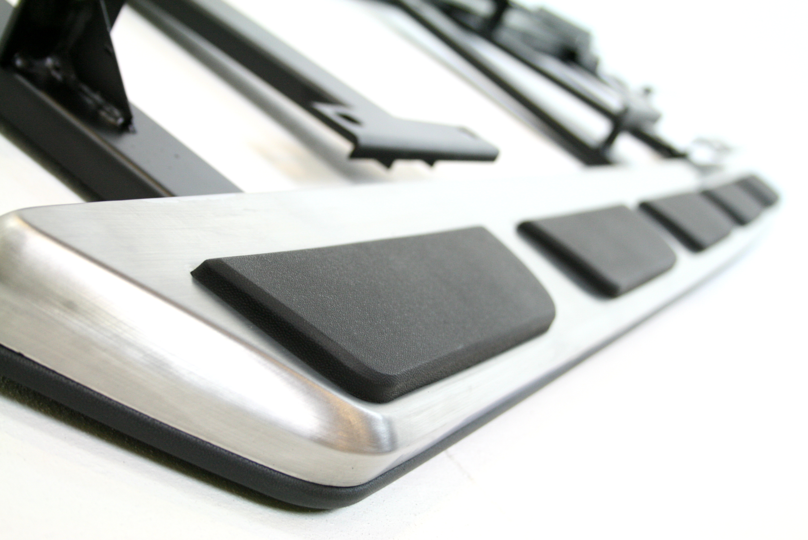 audi  stainless steel side steps bars running boards silver accessories ebay