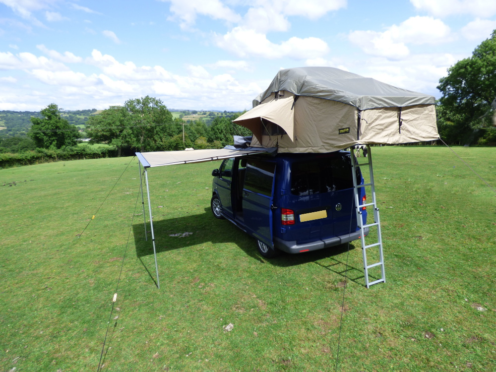 Vw T5 Transporter 3 Man Expedition Roof Tent Pop Up Boxed