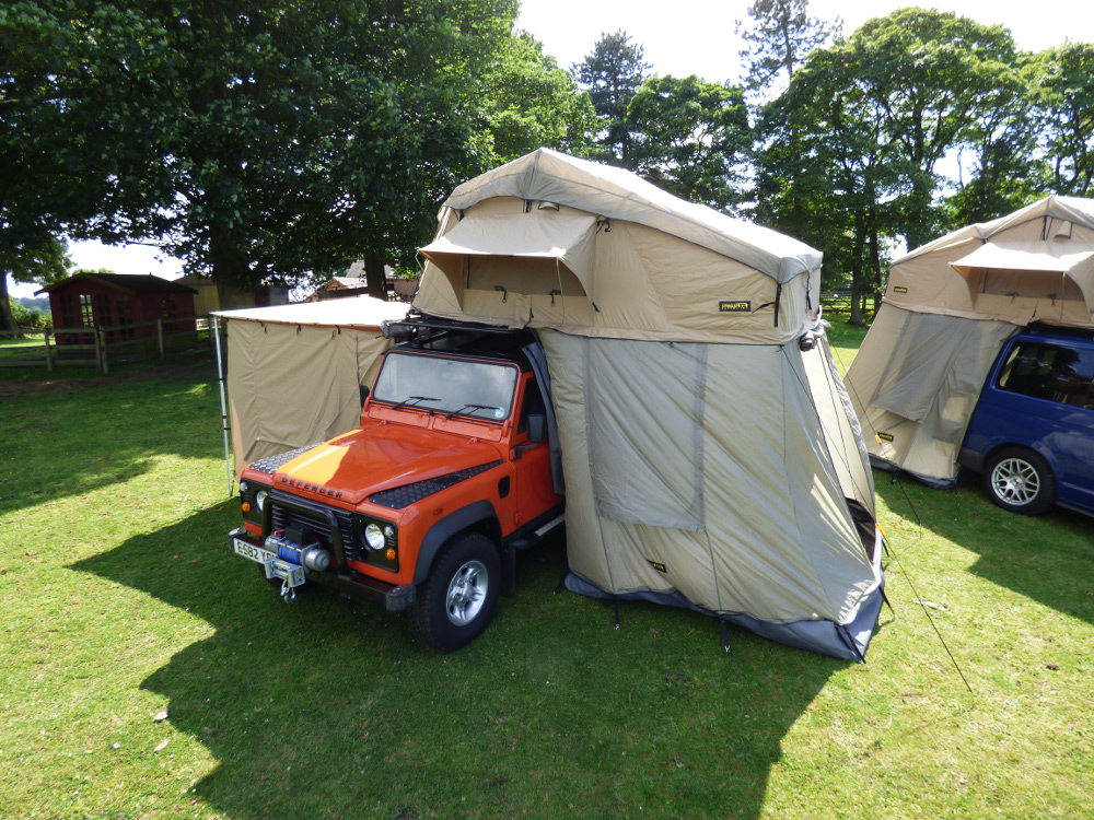 Land Rover Defender 4 Man Roof Tent + Full Roof Rack Travel C&ing Outdoor & Land Rover Defender 4 Man Roof Tent + Full Roof Rack Travel ...