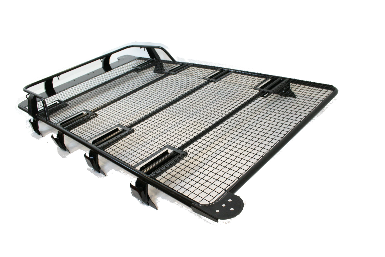 Land Rover Defender Roof Rack Black Powder Coated Steel