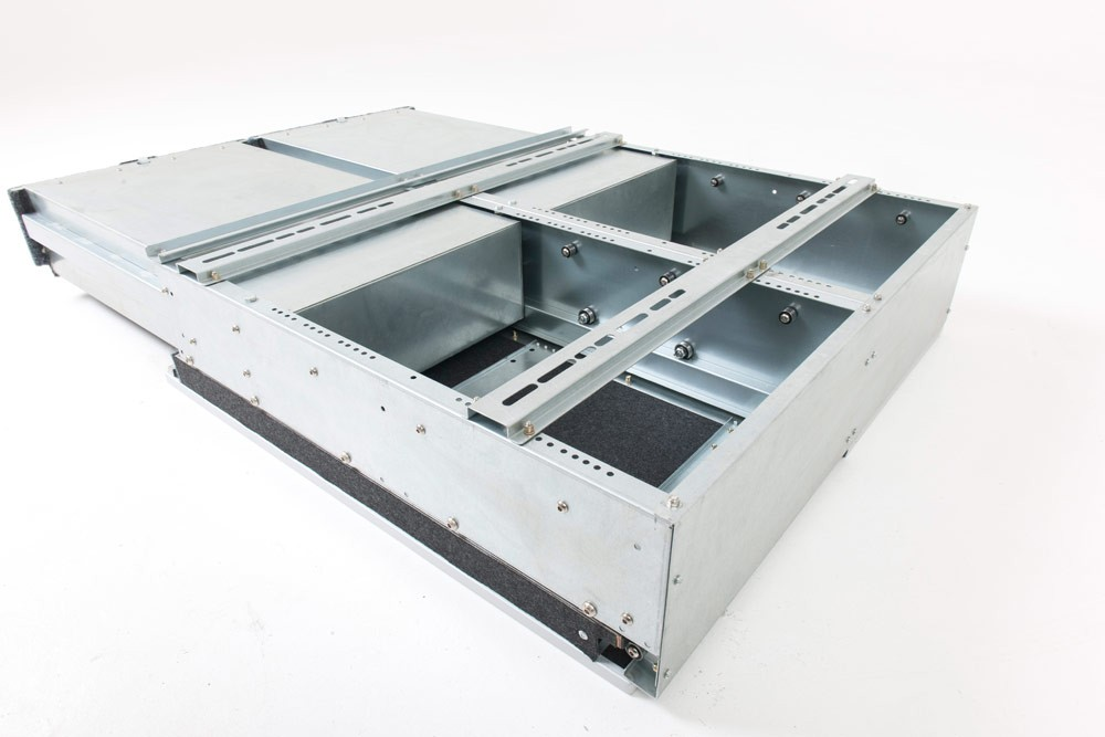 Universal Secure Twin Pull Out Drawer System With Half