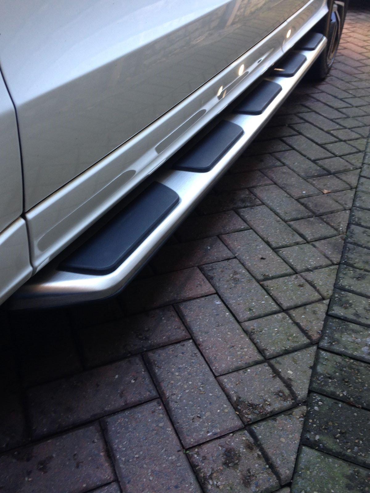 Audi Q5 2009 2016 Stainless Steel Side Steps Bars Running