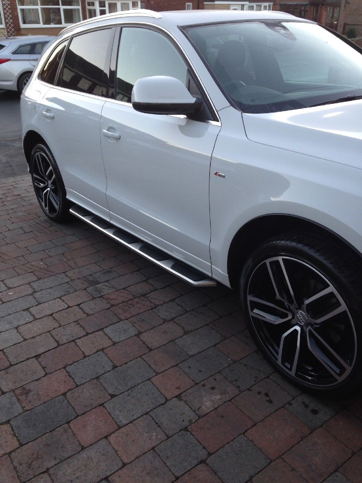 Audi Q5 Stainless Steel Side Steps Bars Running Boards