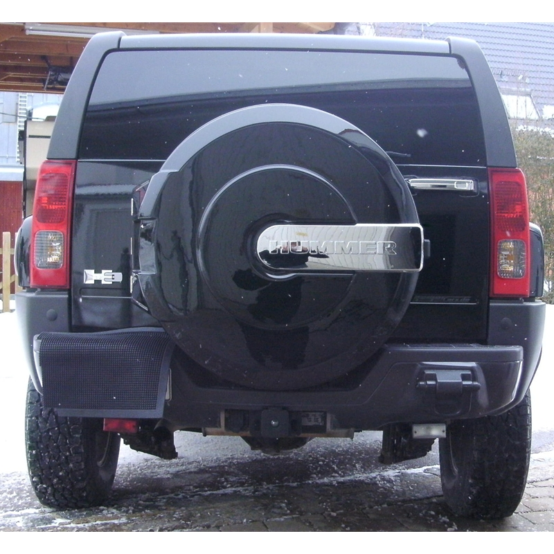 hummer h3 oem hard spare wheel cover with hummer logo in