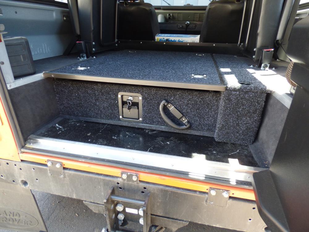 Land Rover Defender 90 110 Lockable Single Drawer Storage