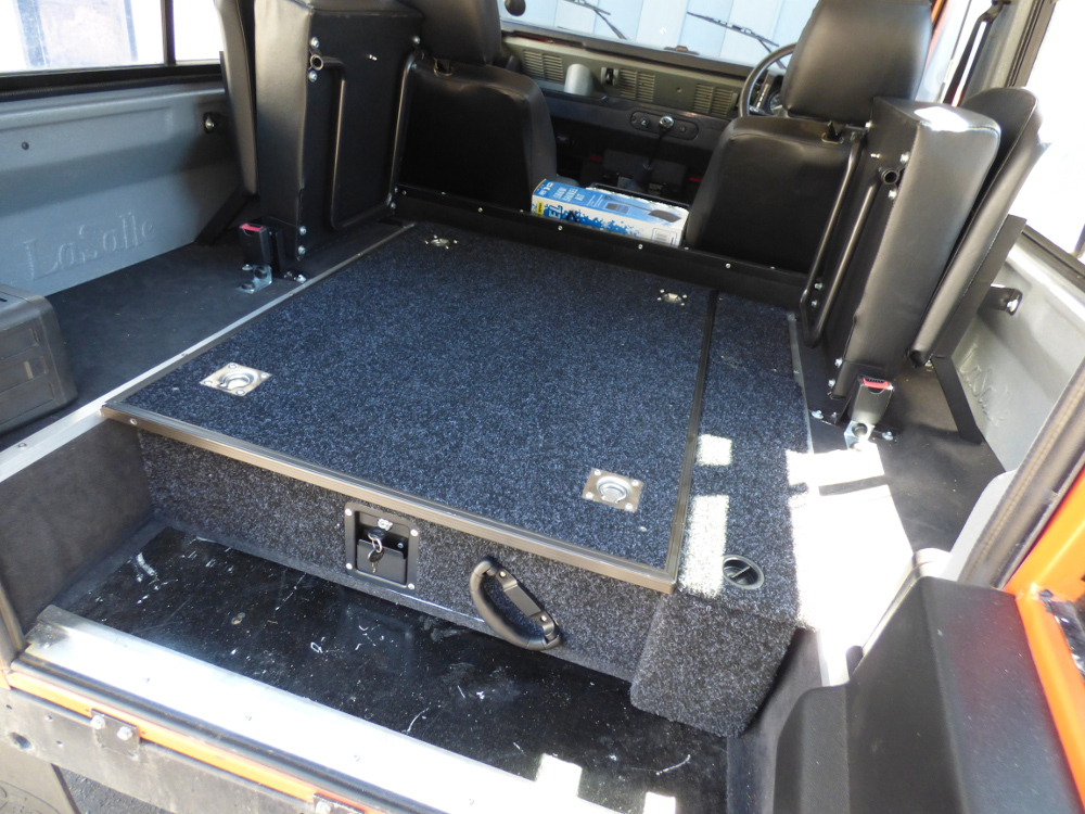 Land Rover Defender 90 110 Lockable Single Drawer Storage