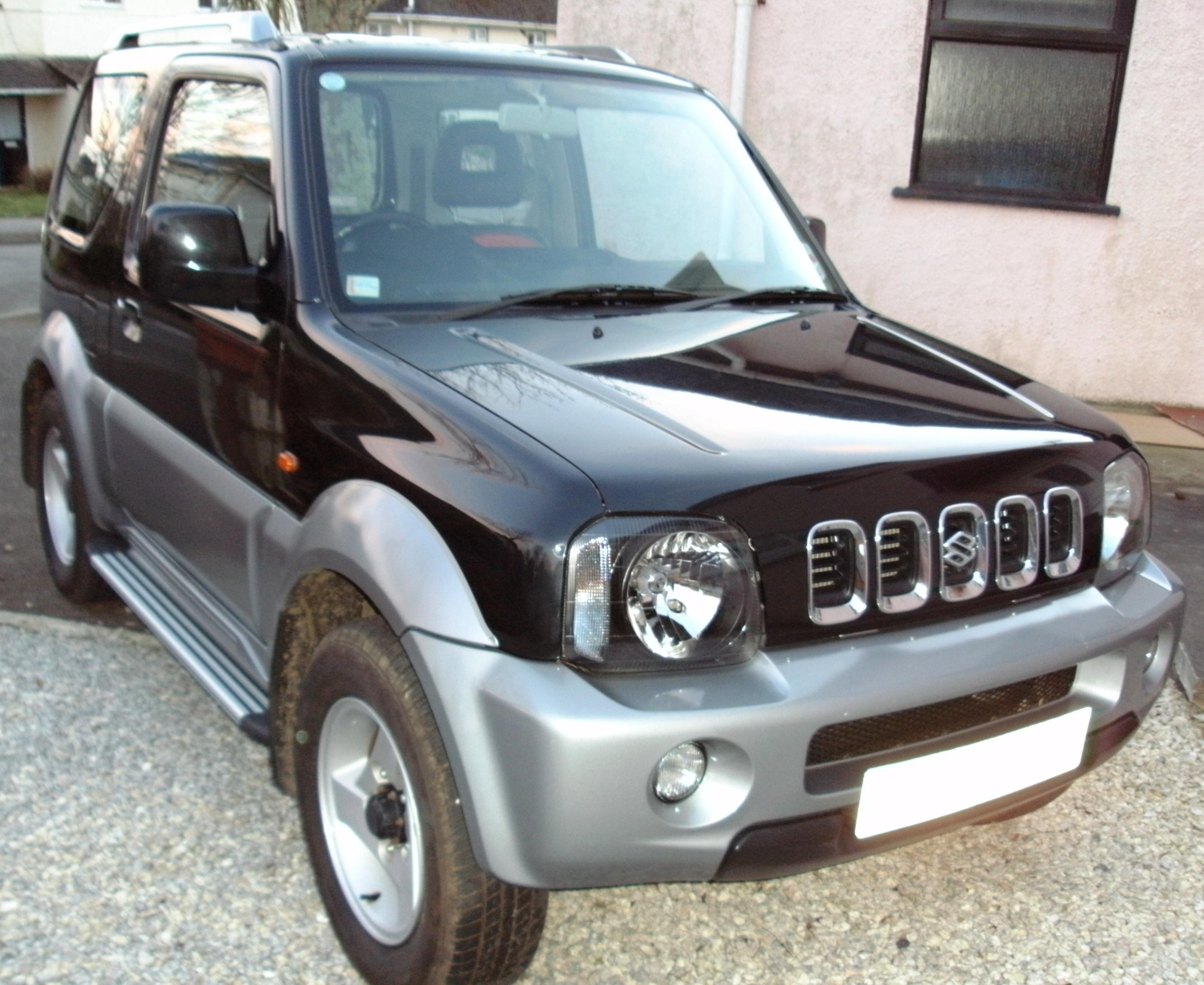 Suzuki jimny aluminium running boards side steps in silver and black part