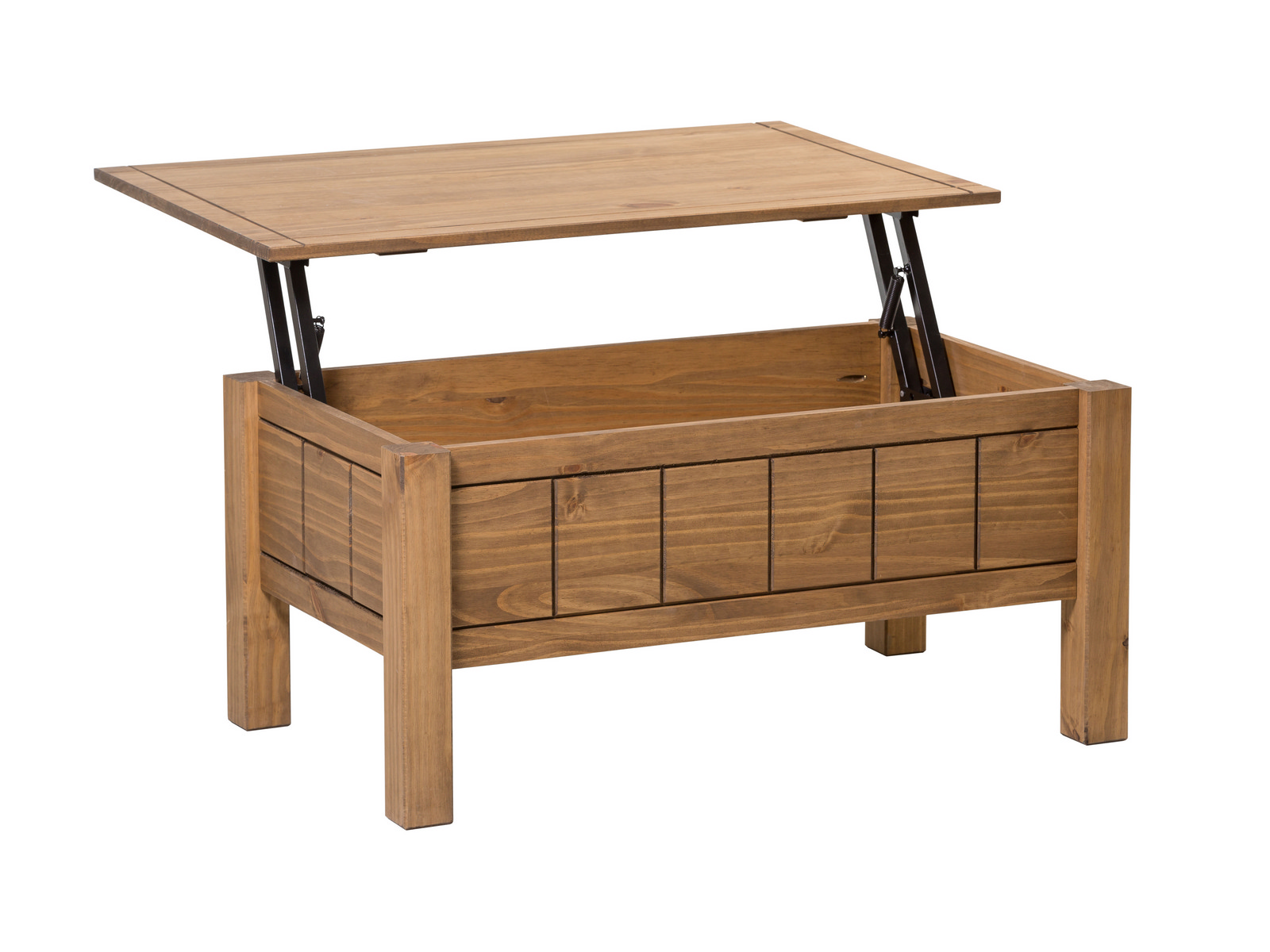 Corona Pine Lift Top Coffee Table With Storage Solid Wood Mexican Waxed Pine Ebay