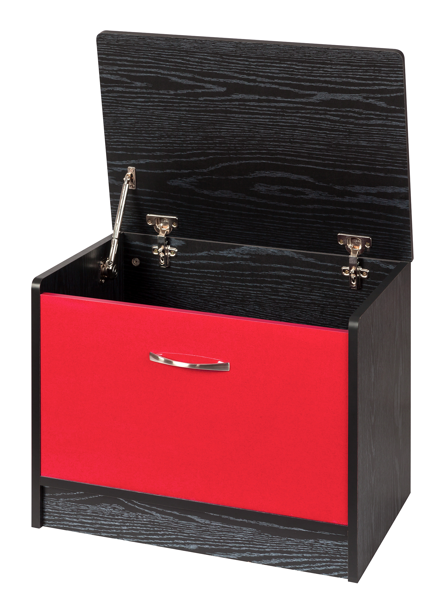 Marina High Gloss Ottoman Storage Box   Red U0026 Black