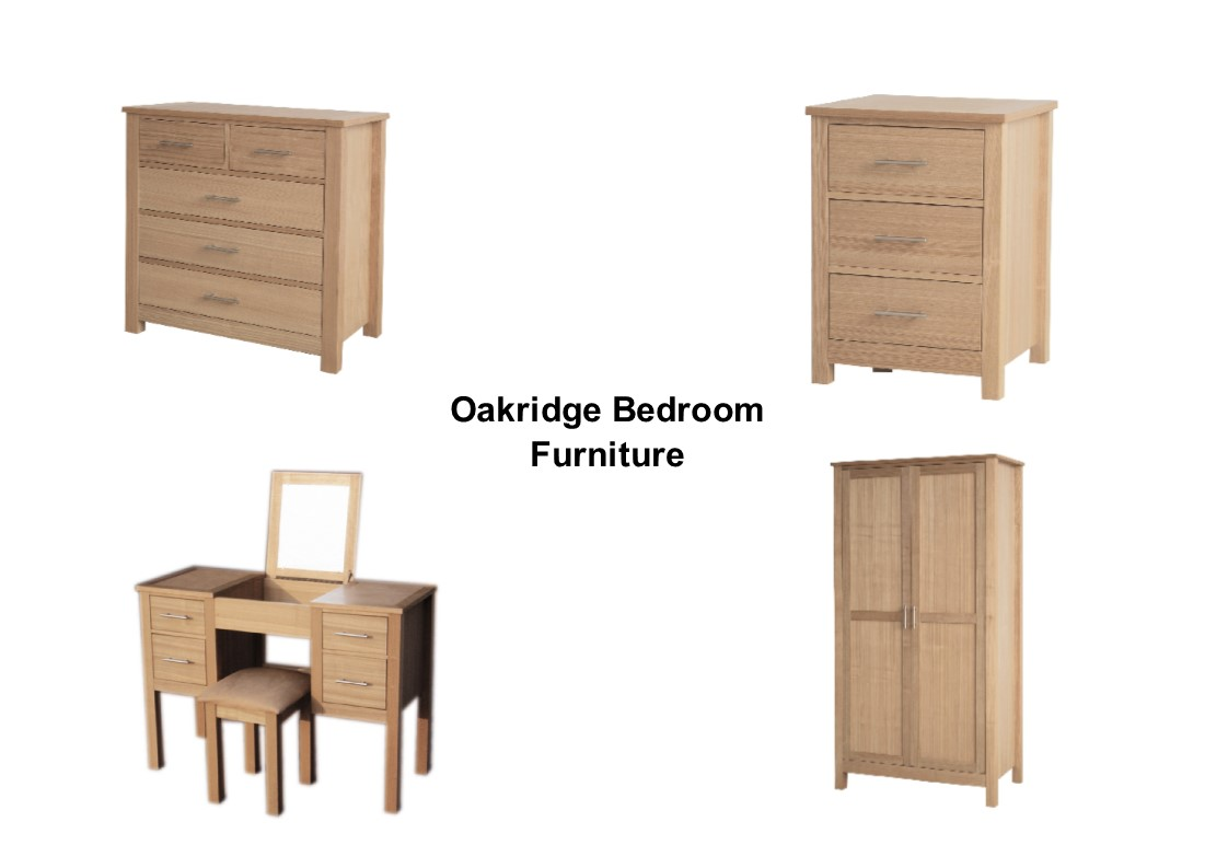 Oakridge Bedroom Furniture Wardrobe Chest Bedside Dressing Table - Oakridge bedroom furniture