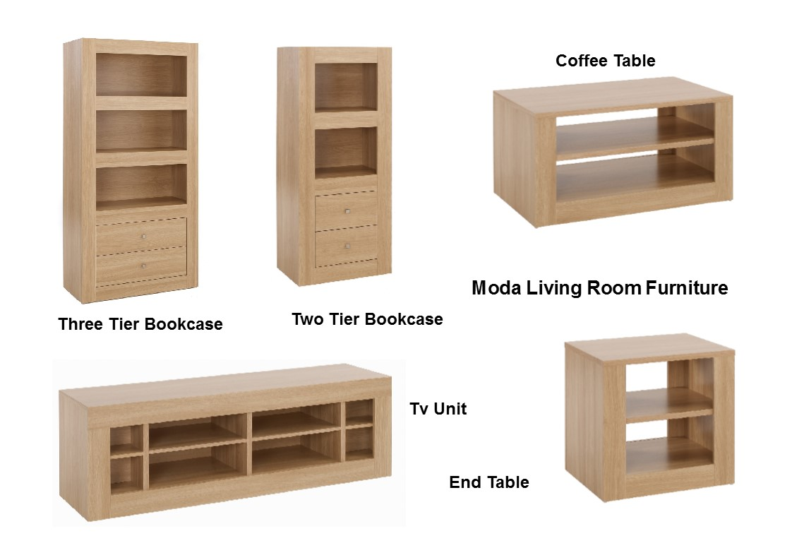 Moda living room furniture storage units tables tv stand oak ebay for Oak shelving units living room