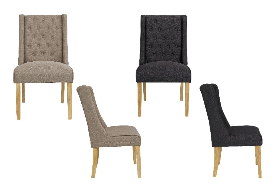 wing back dining chair. Verona Linen Style Fabric Wing Back Dining Chairs X 2 - Beige Or Charcoal Chair I
