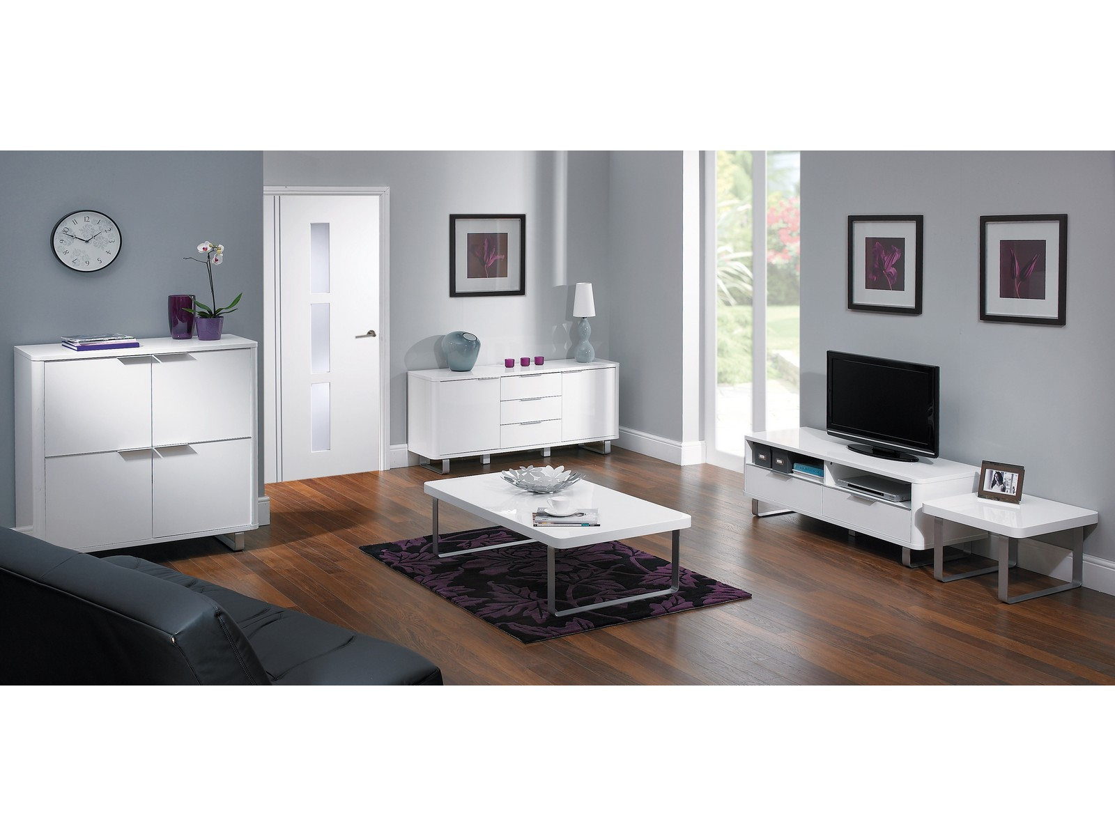 Accent High Gloss Living Room Range Tv Stand Tables Storage Black Or White Ebay