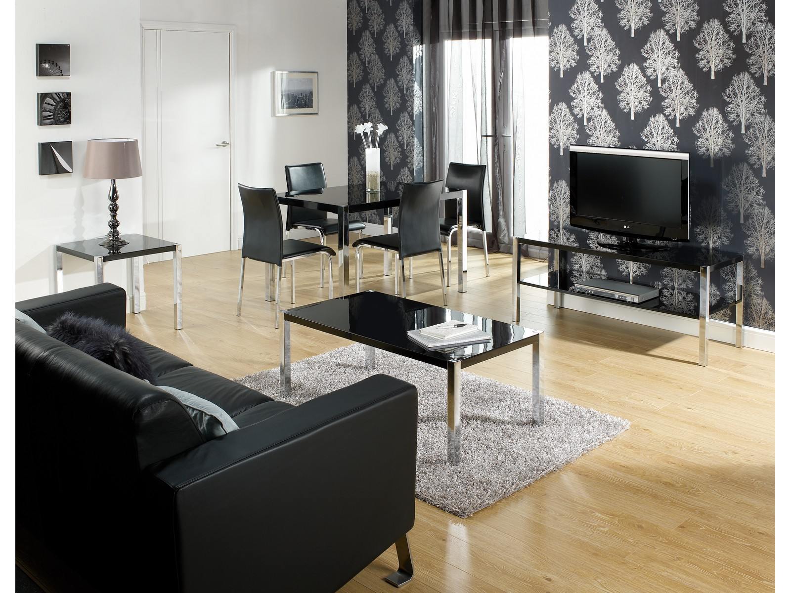 Novello Black Or White Hi Gloss Living Room Furniture Dining Sets Tables Tv Sta Ebay
