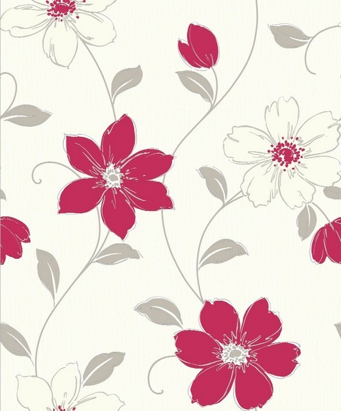 Details About Arthouse Anouska Red Floral Wallpaper Wall Roll 10m