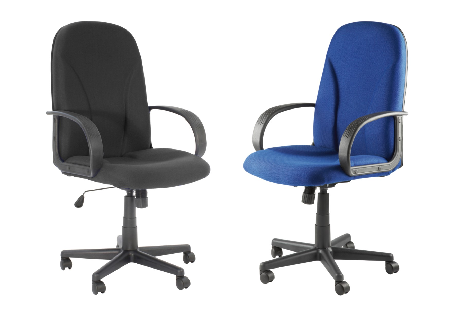 Boston classic high back fabric office chair black or blue