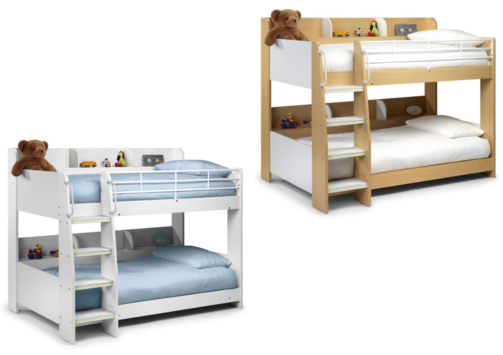 Julian Bowen Domino Wooden Bunk Bed Single Frame In Maple White Or